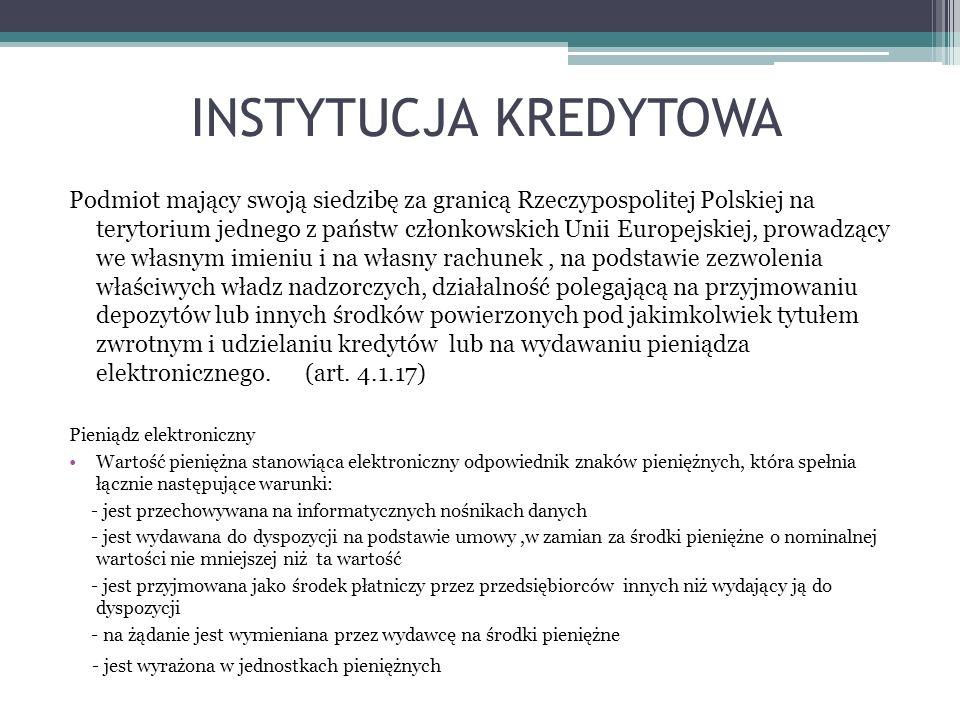 INSTYTUCJA KREDYTOWA