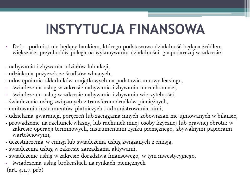 INSTYTUCJA FINANSOWA