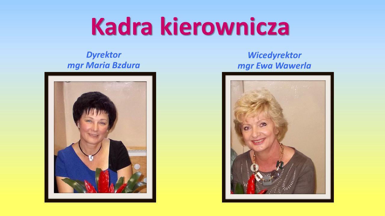 Dyrektor mgr Maria Bzdura Wicedyrektor mgr Ewa Wawerla