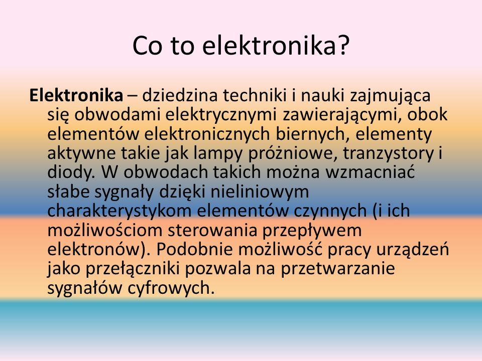 Co to elektronika