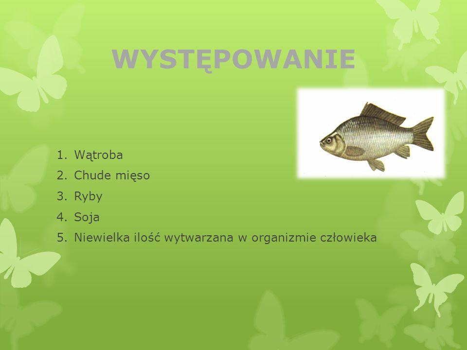 WYSTĘPOWANIE Wątroba Chude mięso Ryby Soja