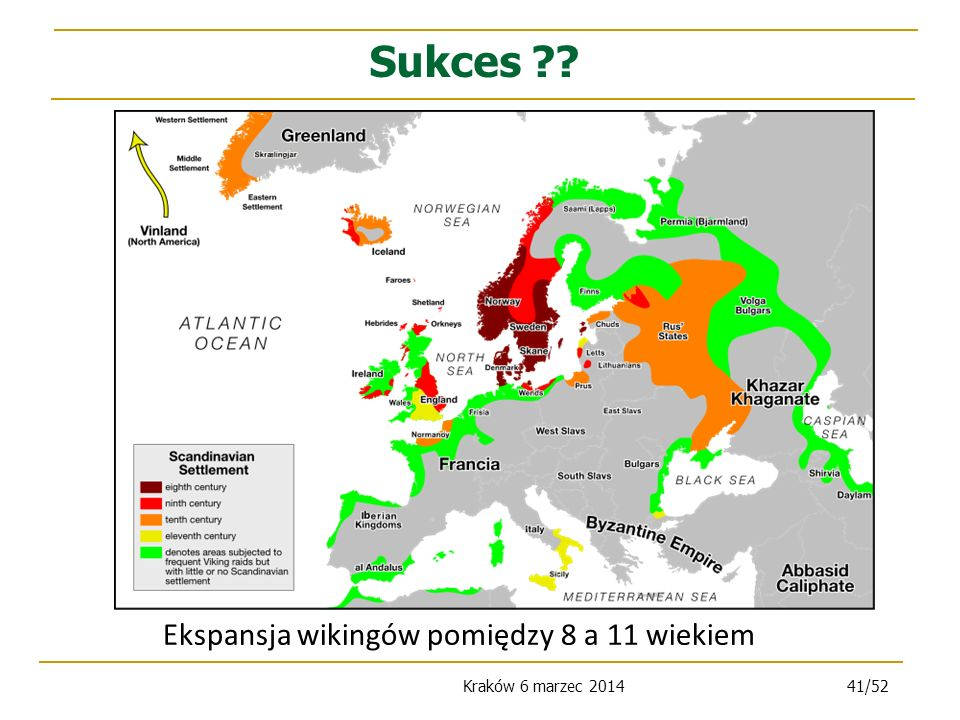 Ekspansja wikingów pomiędzy 8 a 11 wiekiem