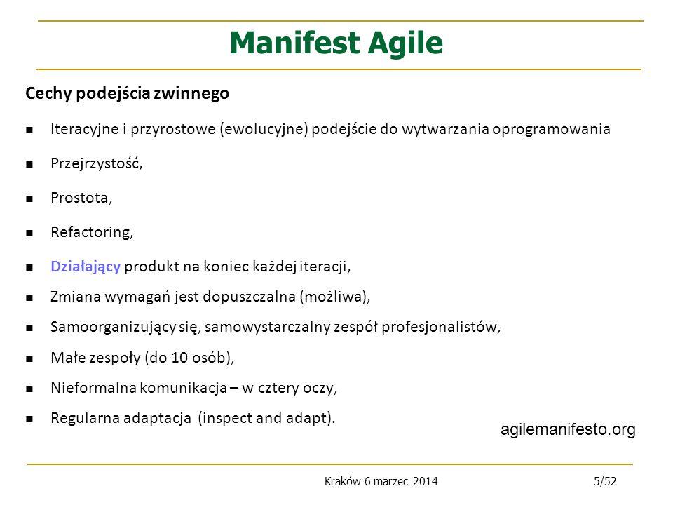 Manifest Agile Cechy podejścia zwinnego