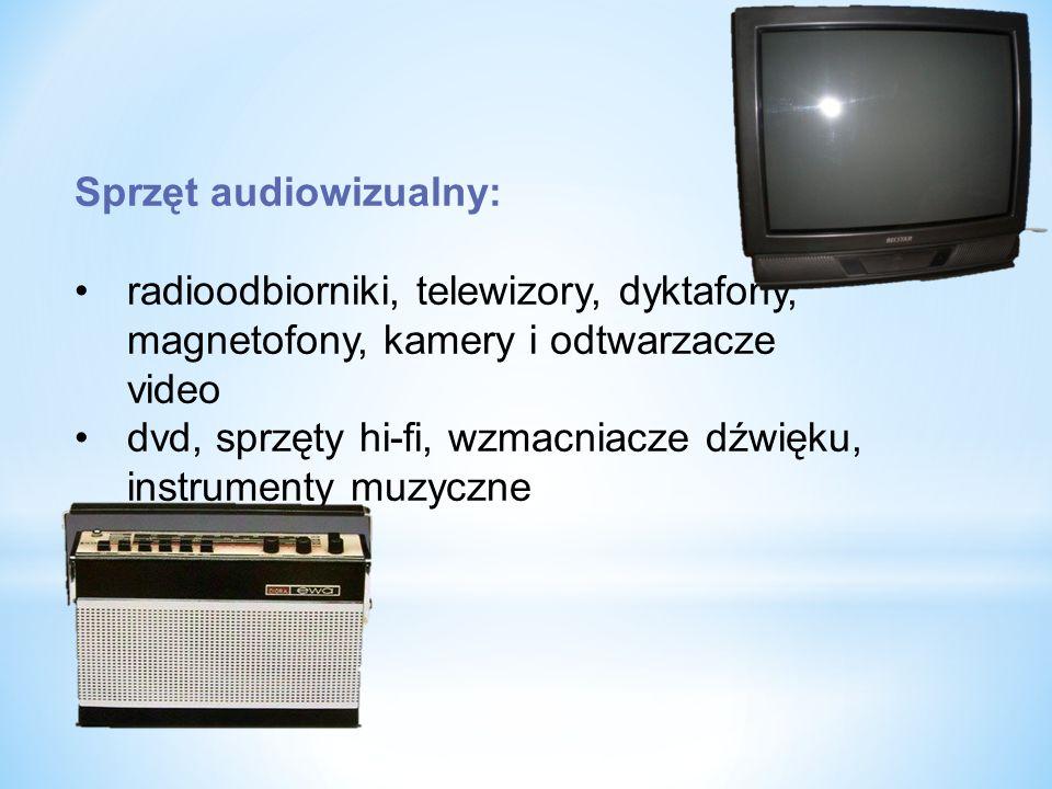 Sprzęt audiowizualny: