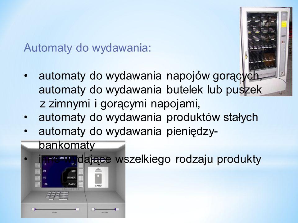Automaty do wydawania: