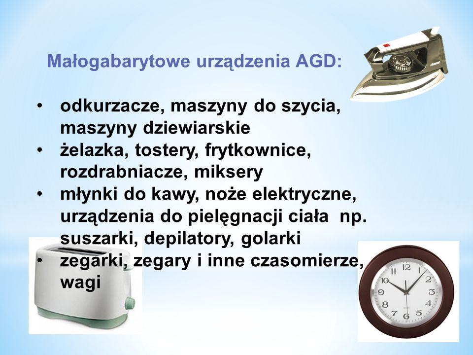 Małogabarytowe urządzenia AGD: