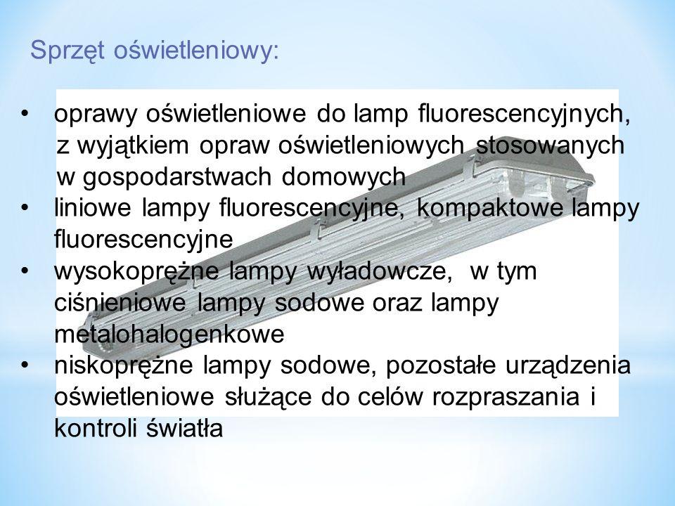 oprawy oświetleniowe do lamp fluorescencyjnych,