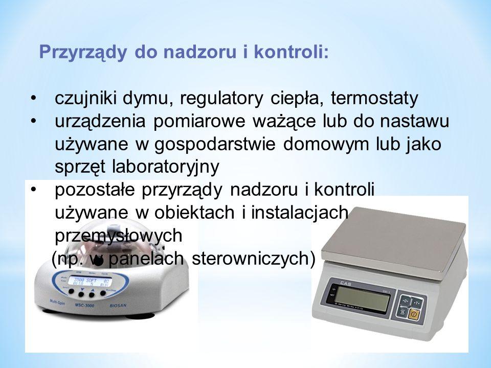 czujniki dymu, regulatory ciepła, termostaty