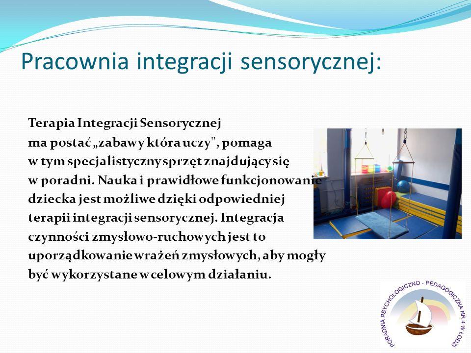 Pracownia integracji sensorycznej: