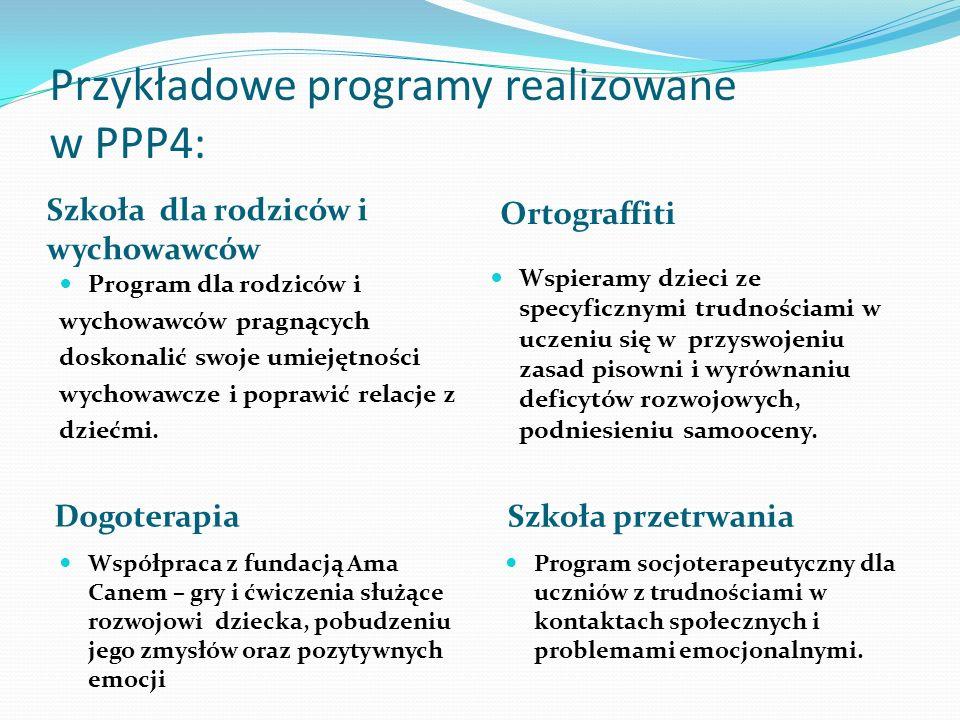 Przykładowe programy realizowane w PPP4: