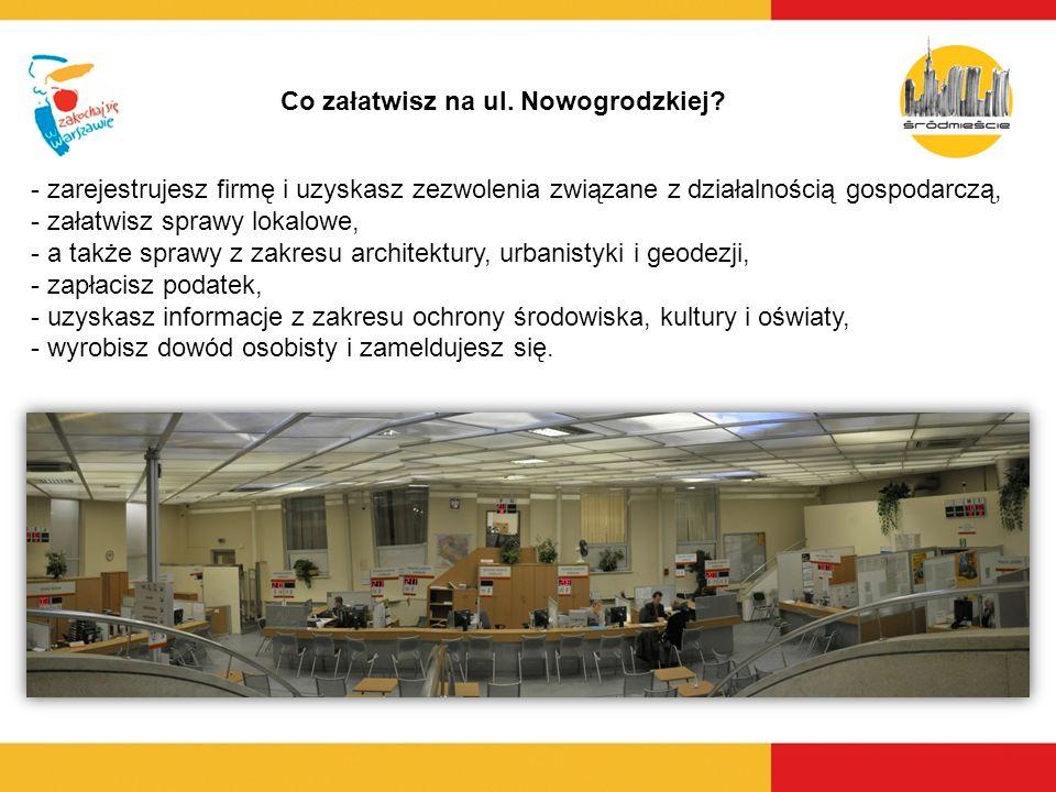 Co załatwisz na ul. Nowogrodzkiej