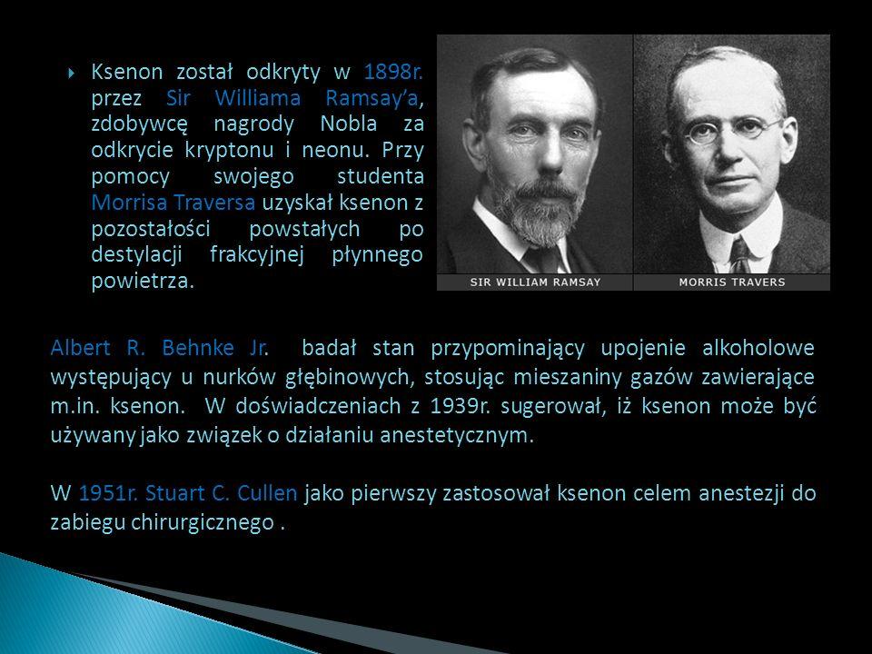 Ksenon został odkryty w 1898r