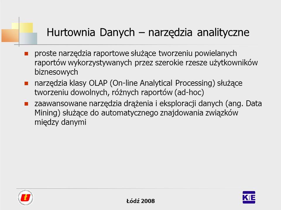 Hurtownia Danych – narzędzia analityczne