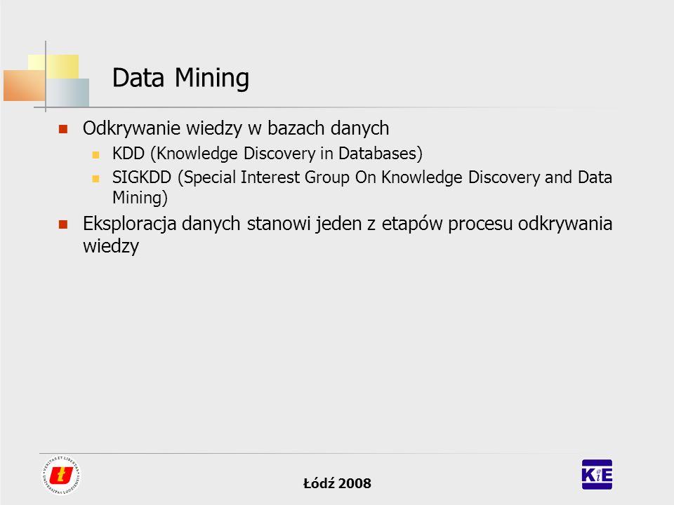 Data Mining Odkrywanie wiedzy w bazach danych