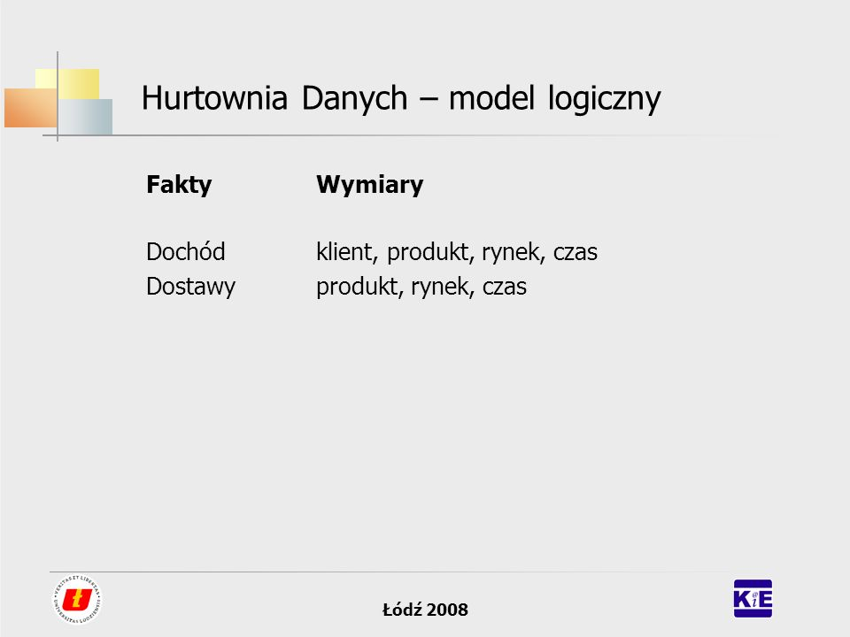 Hurtownia Danych – model logiczny