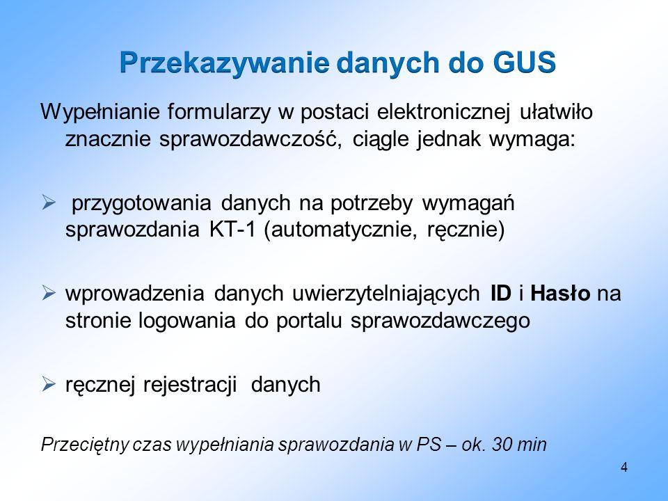 Przekazywanie danych do GUS