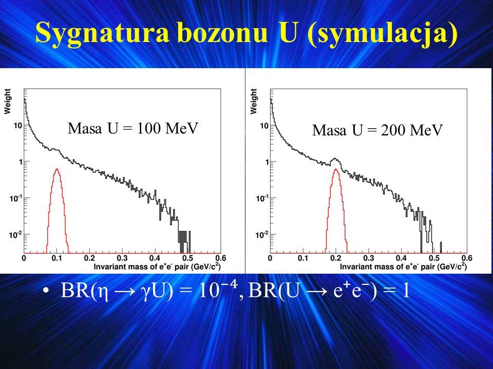 Sygnatura bozonu U (symulacja)