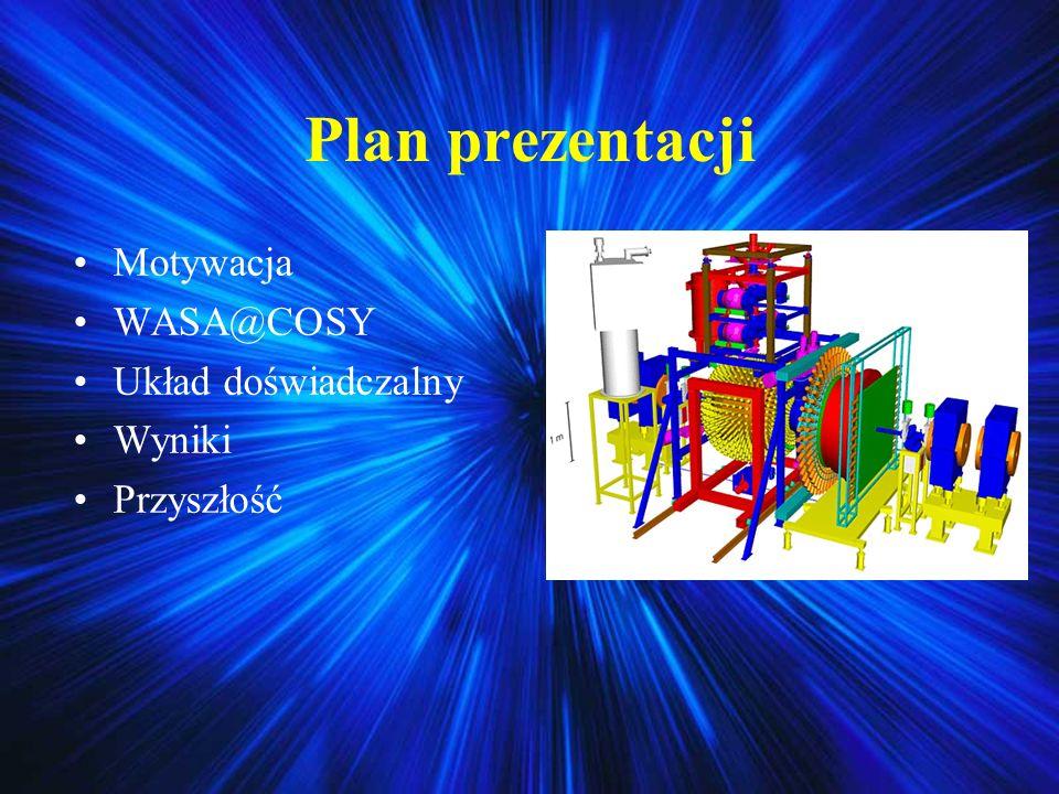 Plan prezentacji Motywacja WASA@COSY Układ doświadczalny Wyniki