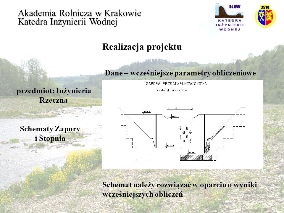 przedmiot: Inżynieria Rzeczna