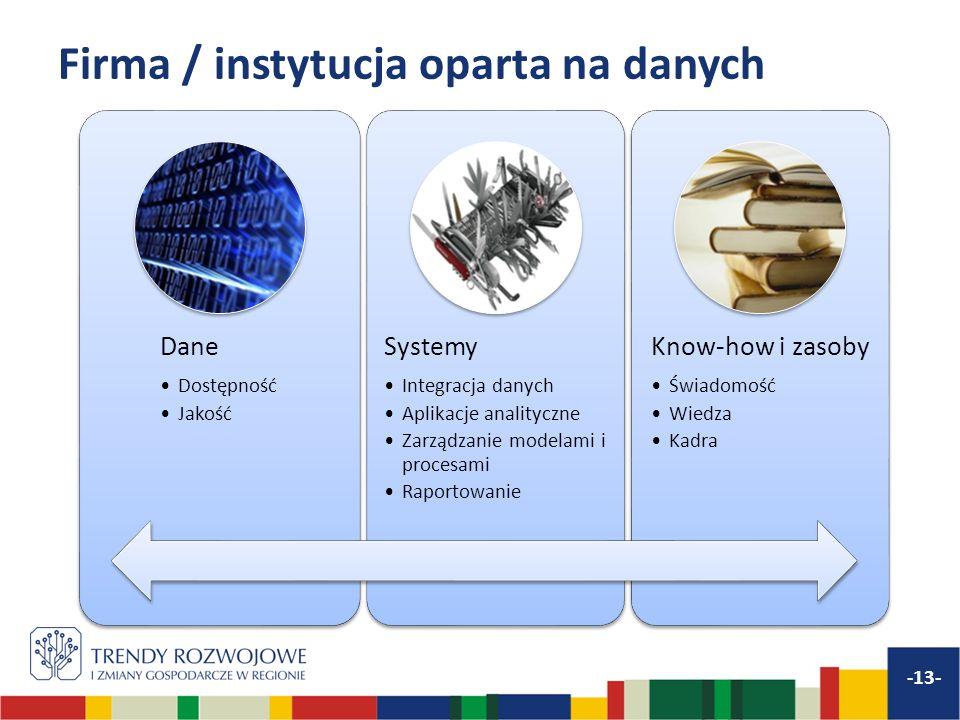 Firma / instytucja oparta na danych