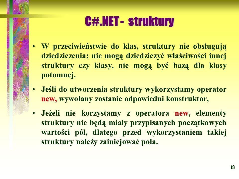 C#.NET - struktury