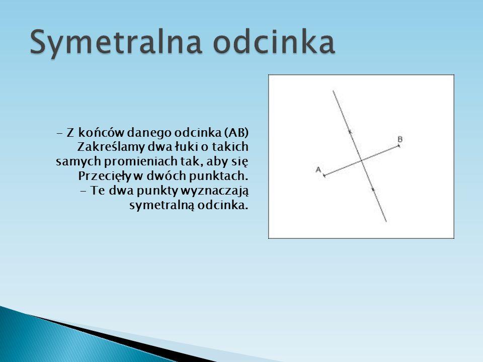 Symetralna odcinka - Z końców danego odcinka (AB)
