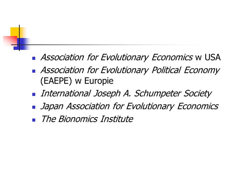 Association for Evolutionary Economics w USA