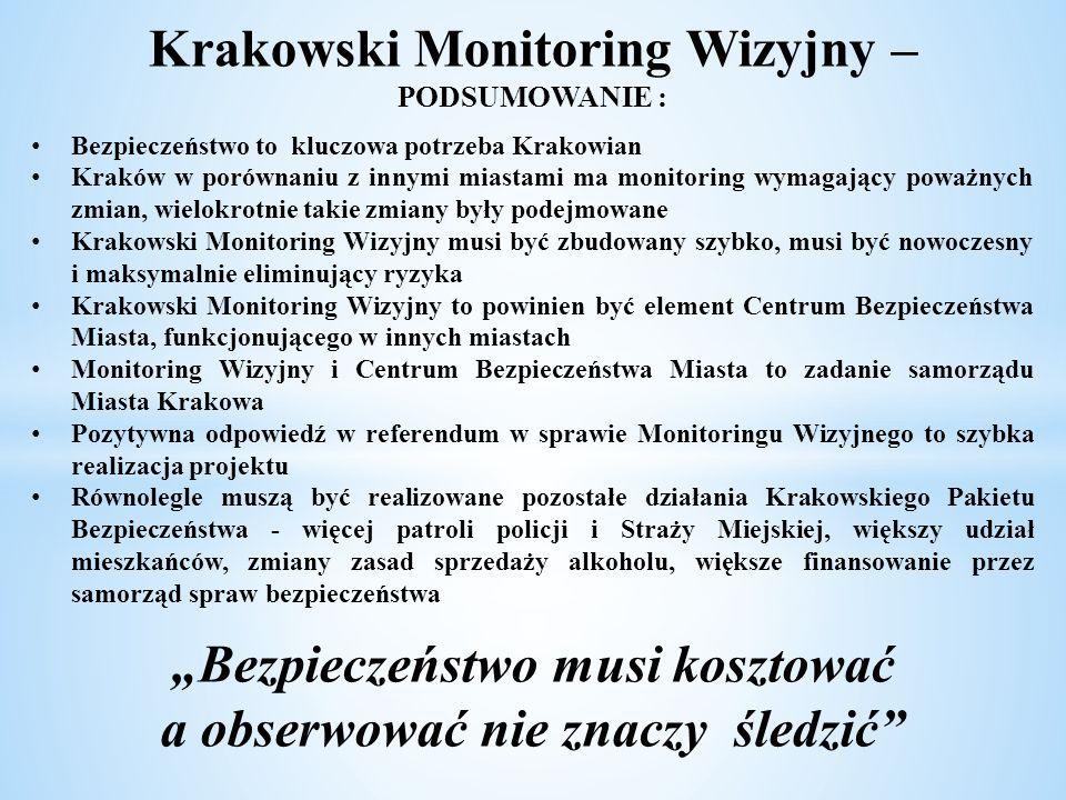 Krakowski Monitoring Wizyjny – PODSUMOWANIE :