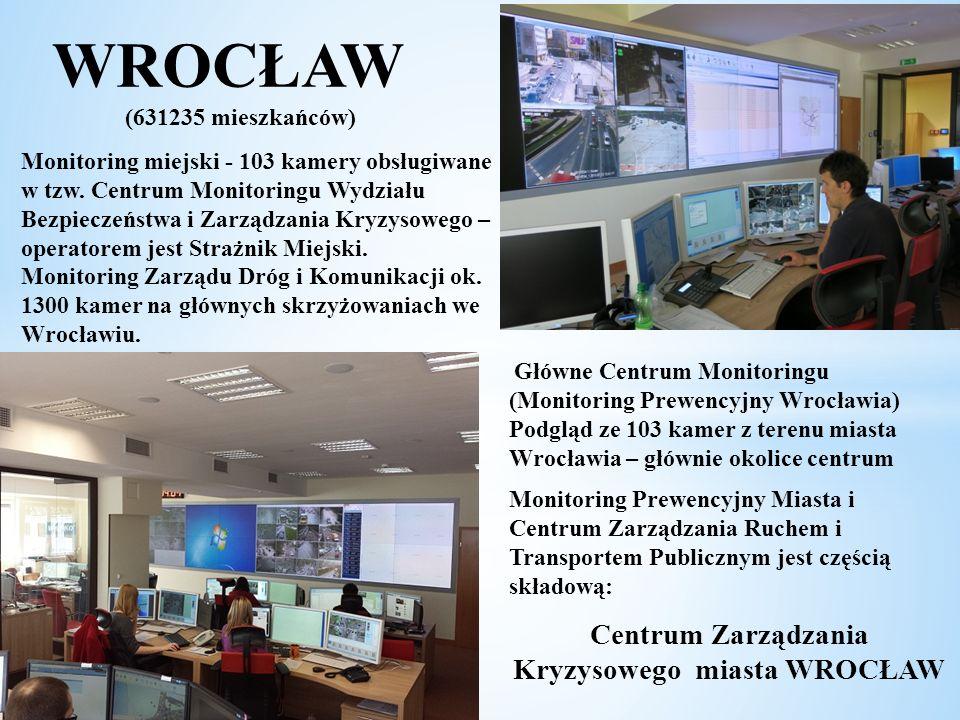 WROCŁAW (631235 mieszkańców) Kryzysowego miasta WROCŁAW