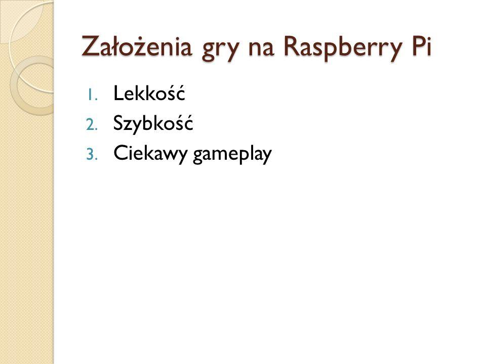 Założenia gry na Raspberry Pi