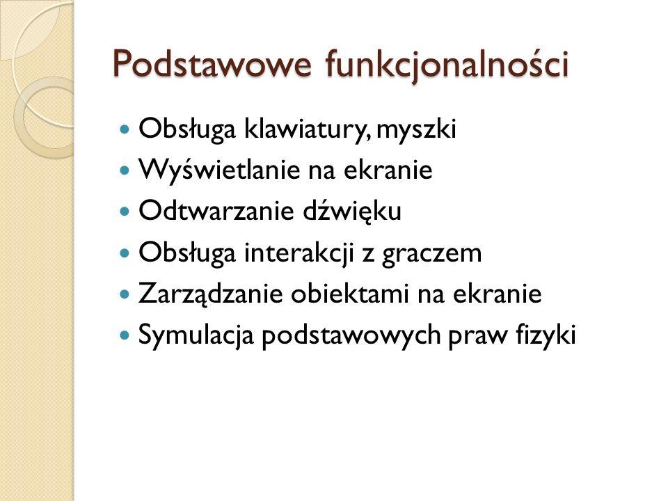 Podstawowe funkcjonalności