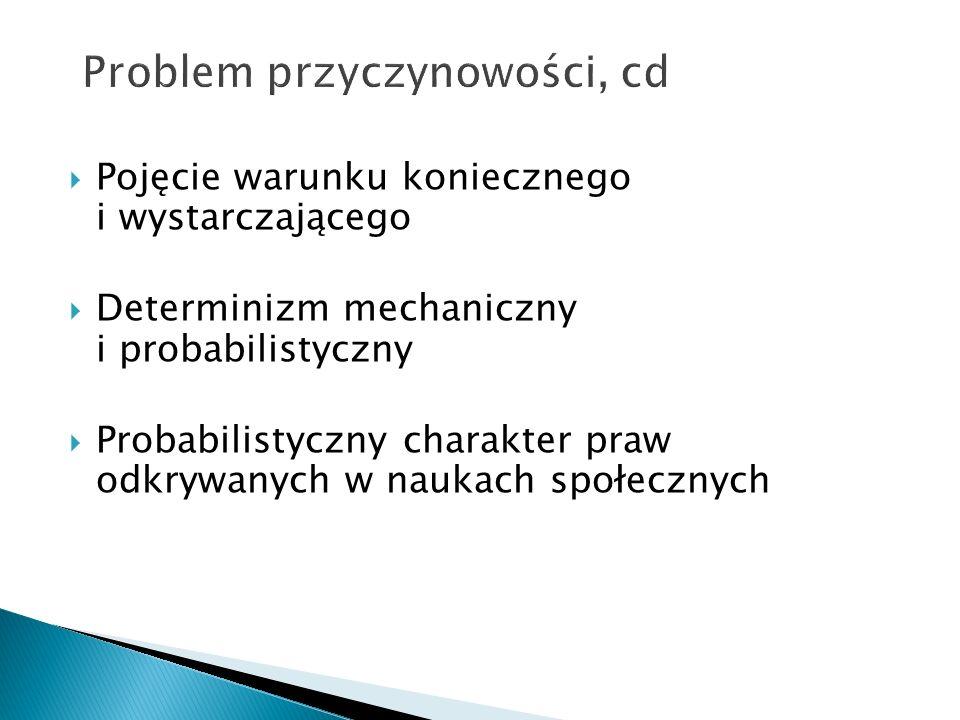 Problem przyczynowości, cd