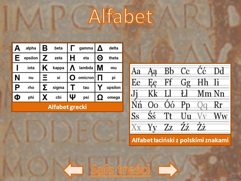 Alfabet łaciński z polskimi znakami