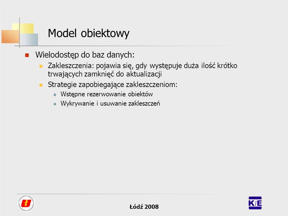 Model obiektowy Wielodostęp do baz danych:
