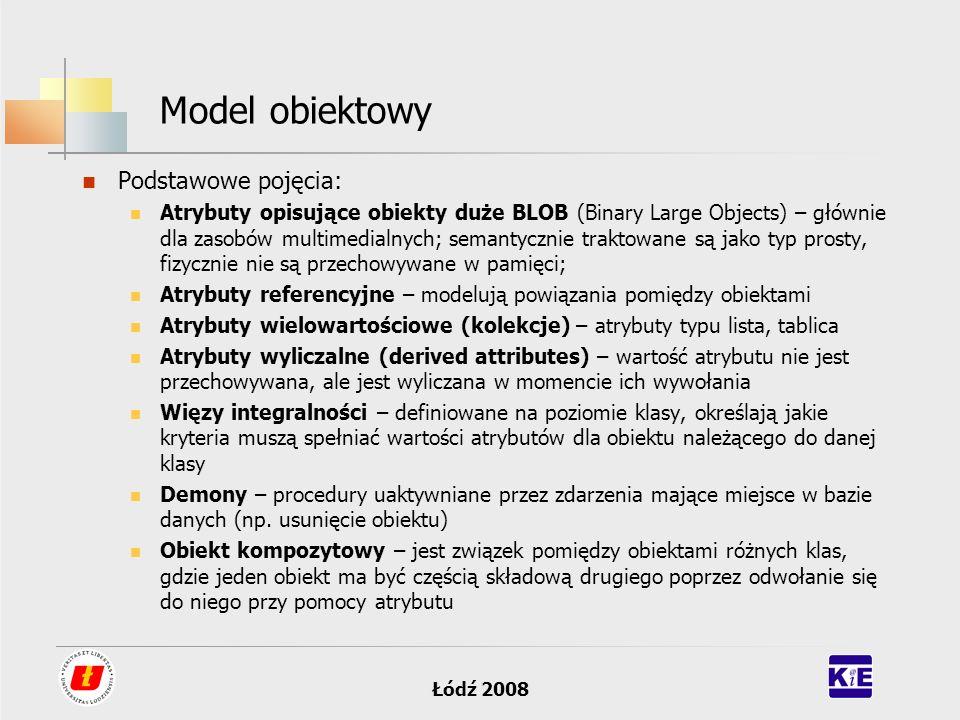Model obiektowy Podstawowe pojęcia:
