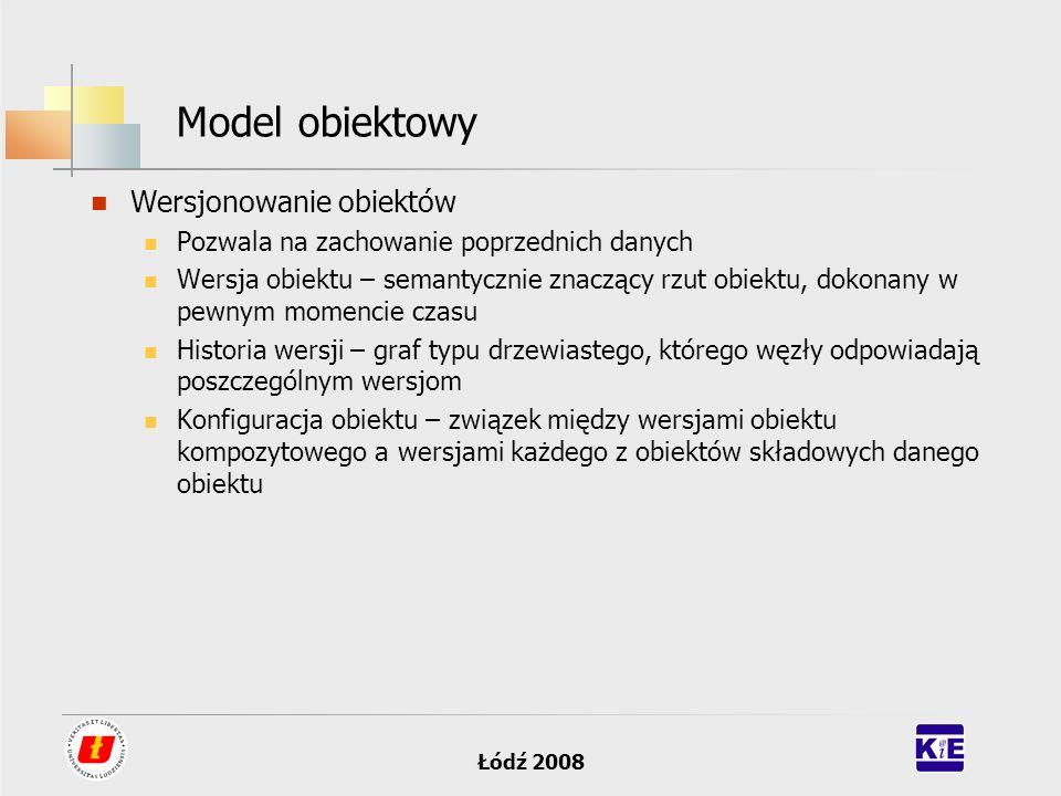 Model obiektowy Wersjonowanie obiektów