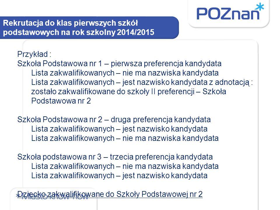 Rekrutacja do klas pierwszych szkół podstawowych na rok szkolny 2014/2015