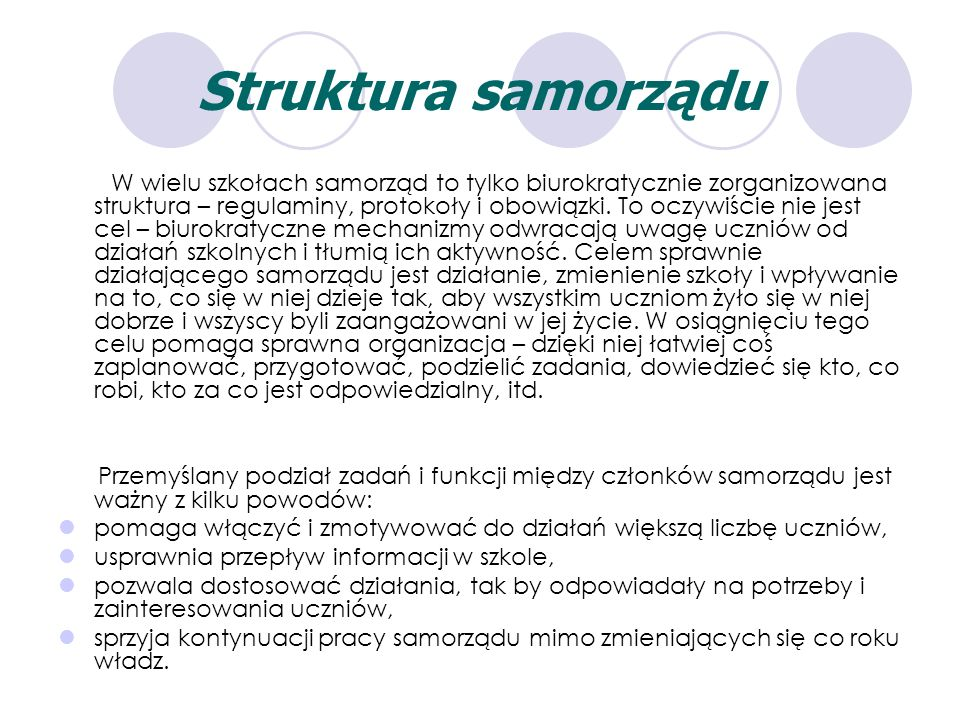 Struktura samorządu