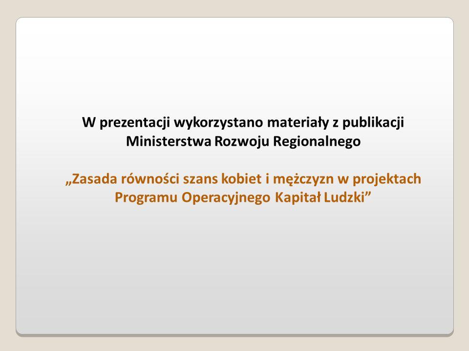 W prezentacji wykorzystano materiały z publikacji Ministerstwa Rozwoju Regionalnego