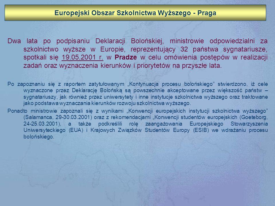 Europejski Obszar Szkolnictwa Wyższego - Praga