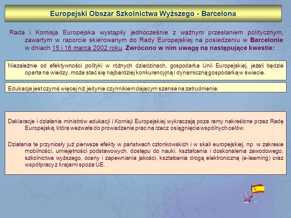 Europejski Obszar Szkolnictwa Wyższego - Barcelona