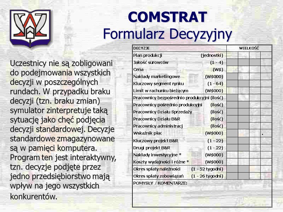 COMSTRAT Formularz Decyzyjny