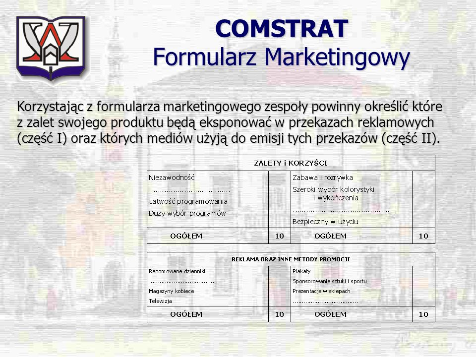 COMSTRAT Formularz Marketingowy
