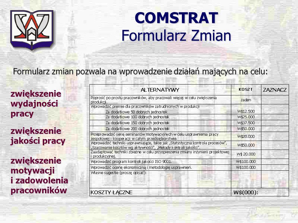 COMSTRAT Formularz Zmian