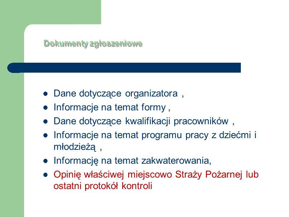 Dokumenty zgłoszeniowe