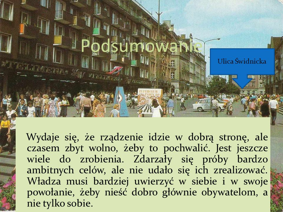 Podsumowanie Ulica Świdnicka.