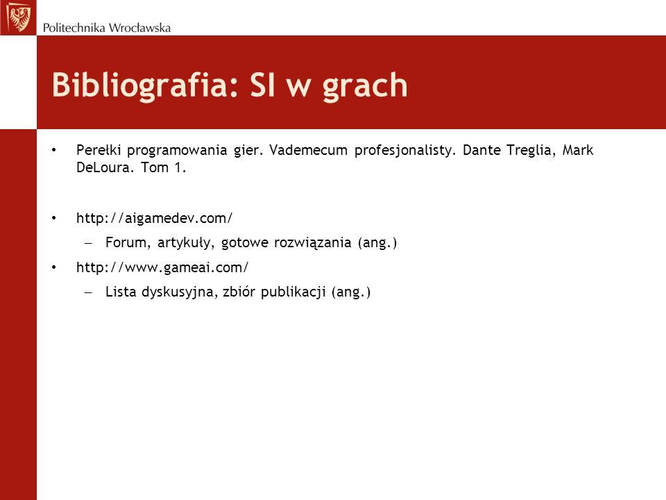 Bibliografia: SI w grach