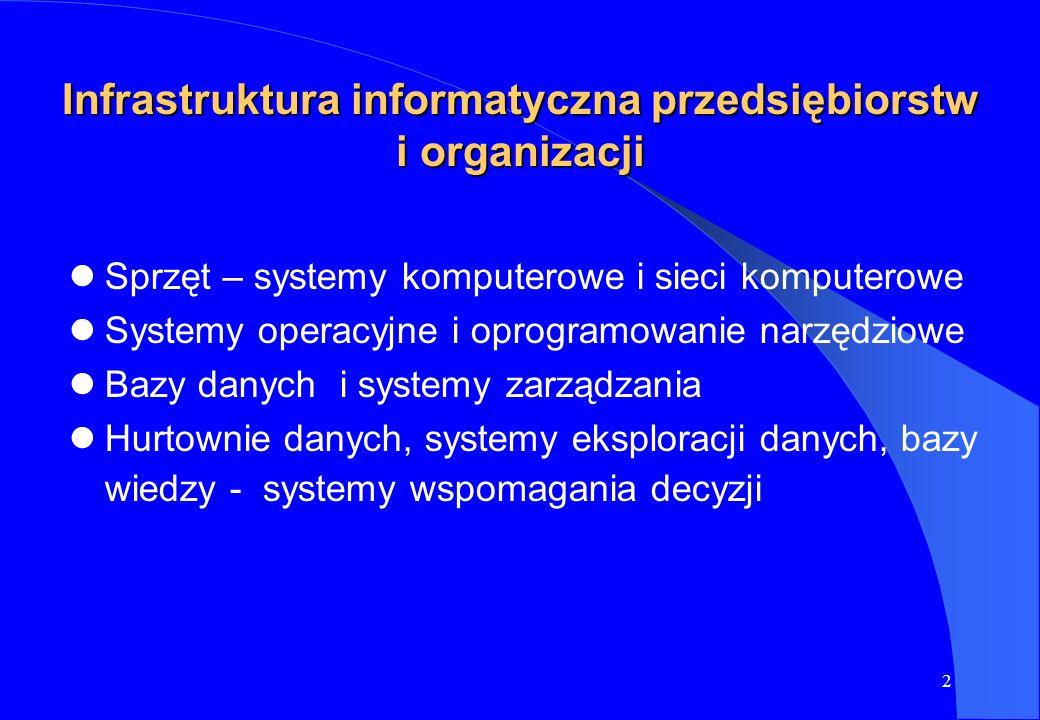 Infrastruktura informatyczna przedsiębiorstw i organizacji