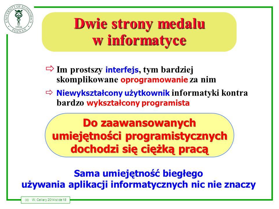 Dwie strony medalu w informatyce