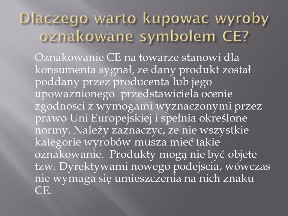Dlaczego warto kupowac wyroby oznakowane symbolem CE